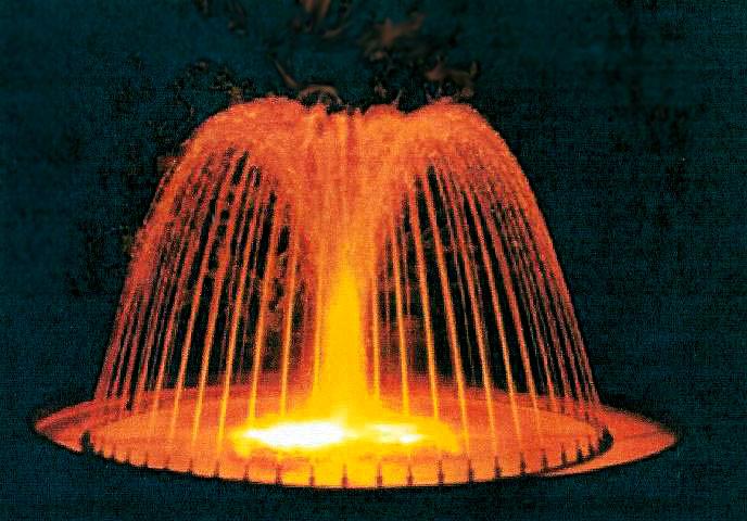 jet d eau pour bassin exterieur 15 jets du0027eau orange - Jet D Eau Pour Bassin Exterieur